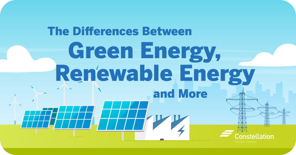 The differences between green energy, renewable energy and more