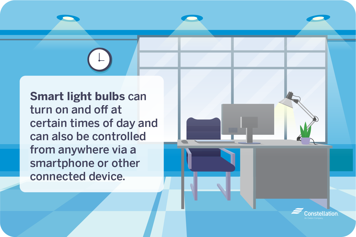 Automating office lighting with smart bulbs