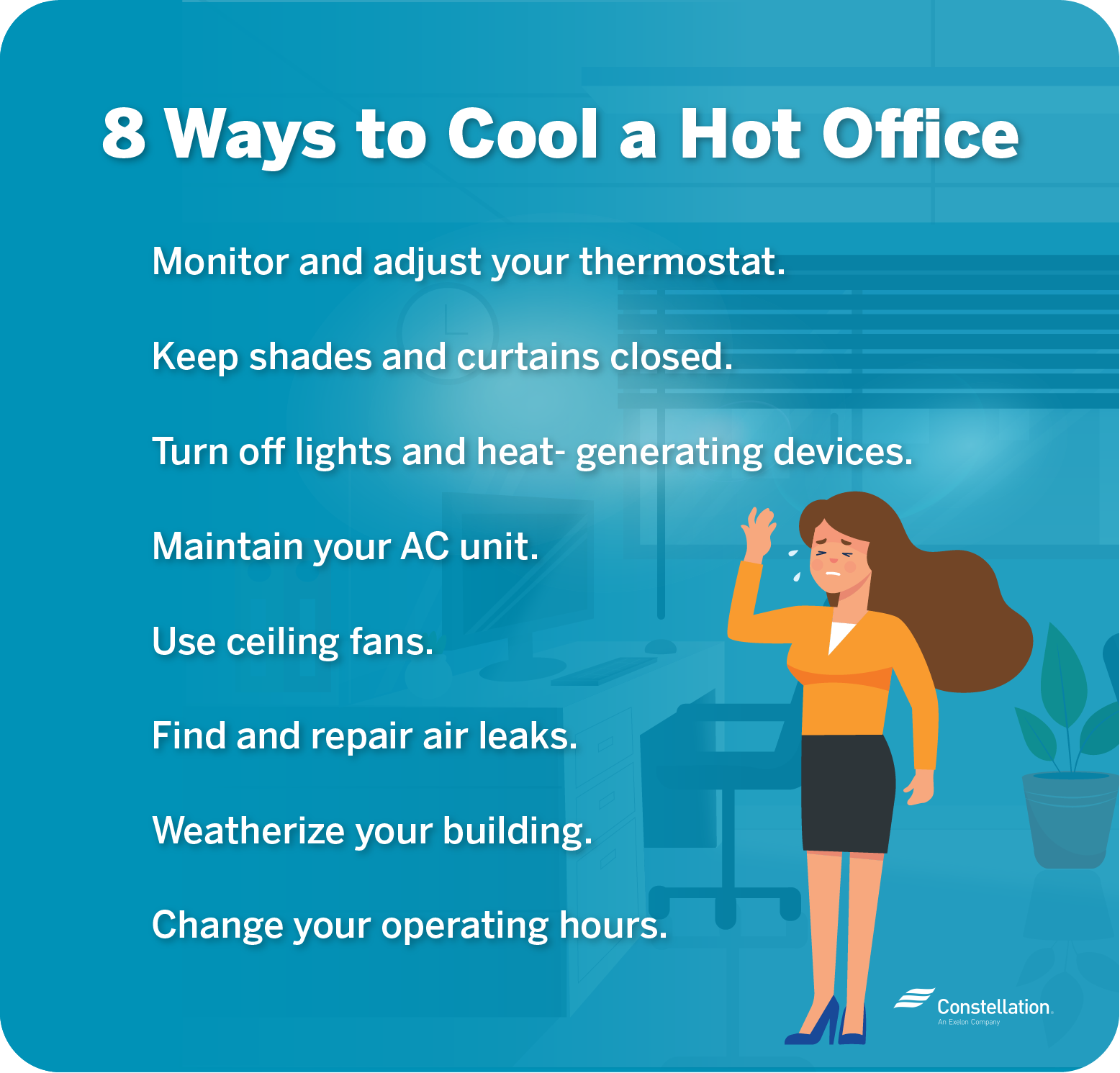 8 ways to cool a hot office