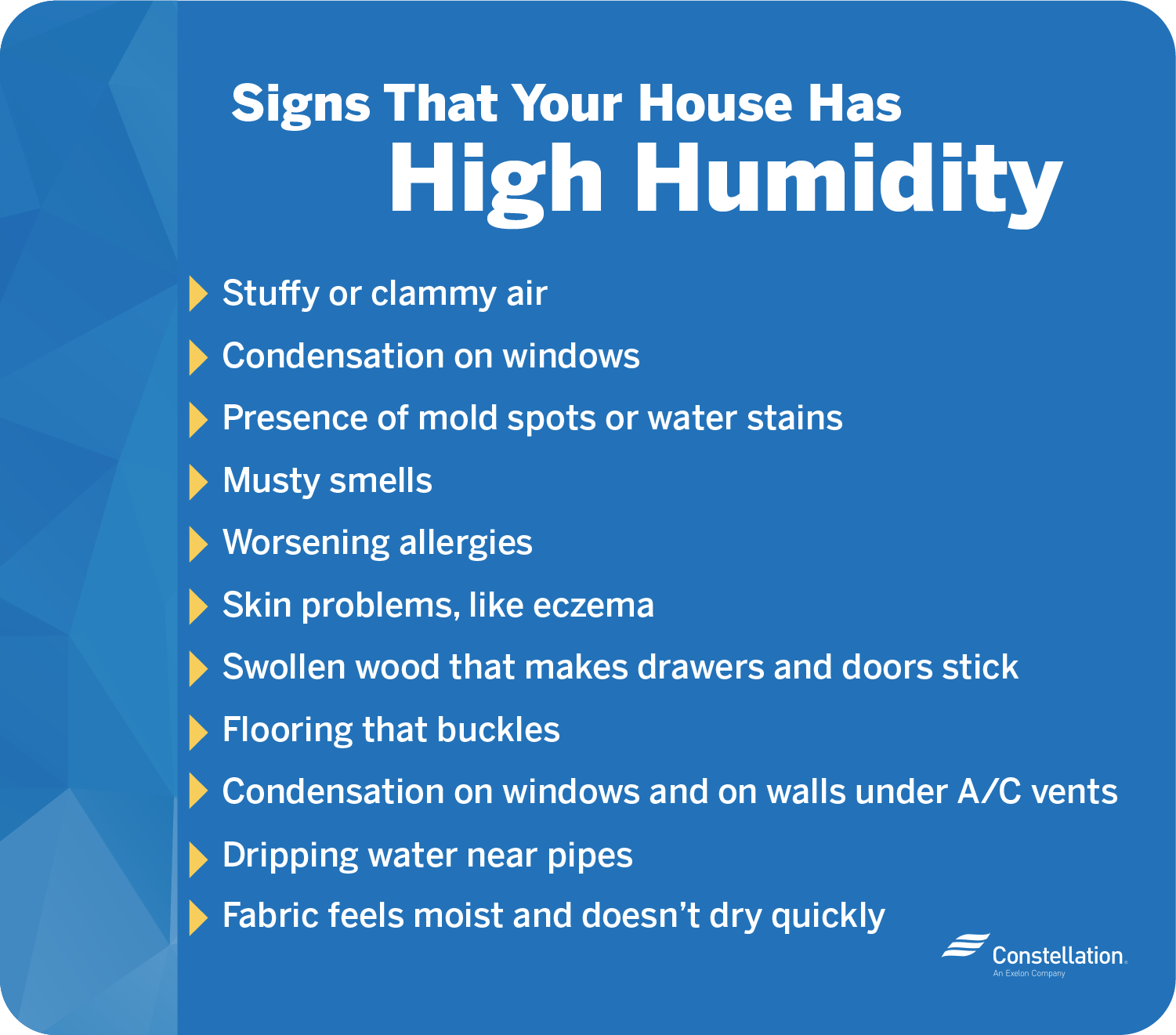 Signs that your house has high humidity