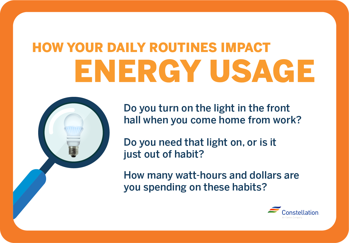How your daily routines impact energy usage