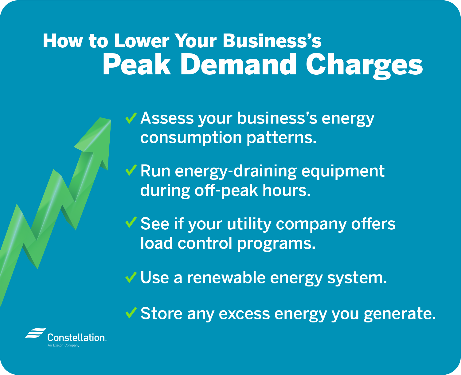 How to lower your business's peak demand charges