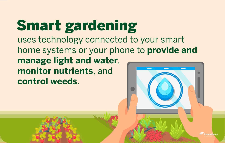 Smart gardening definition