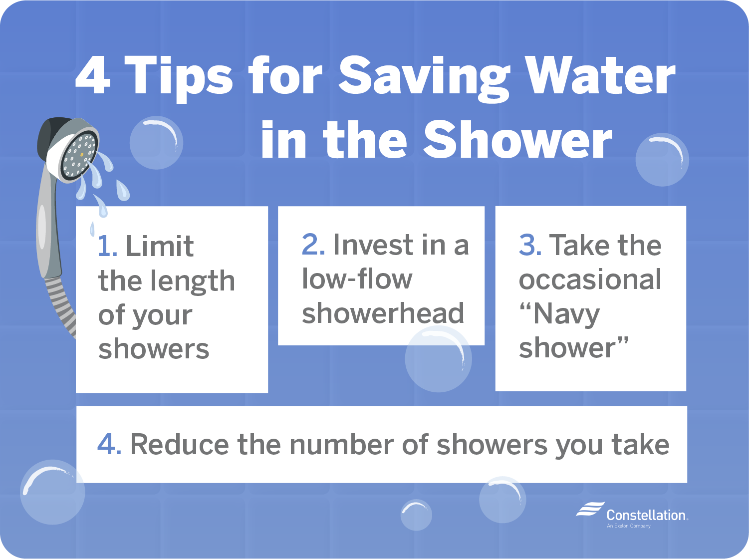 4 tips for saving water in the shower