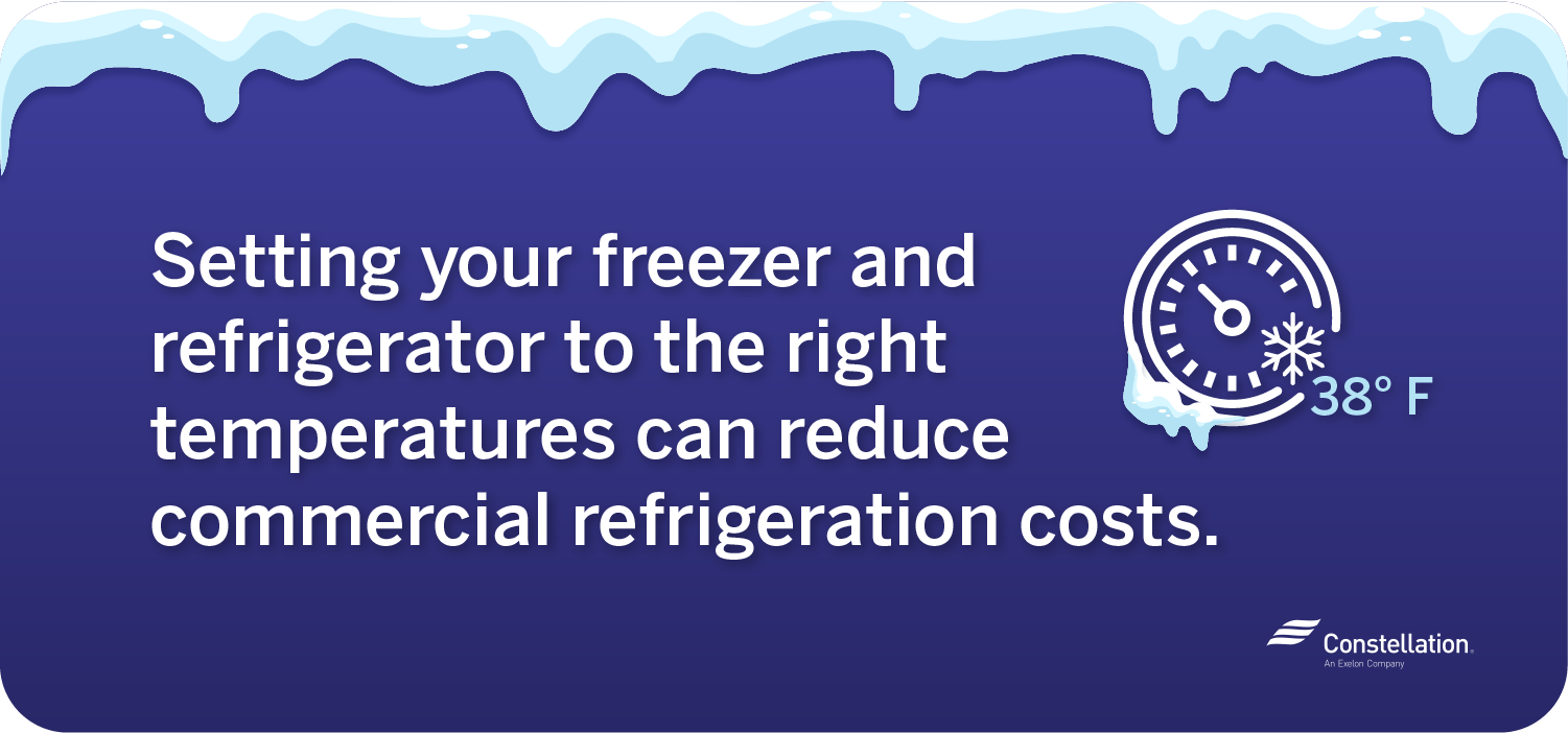 Freezer temperature to reduce commercial refrigeration costs
