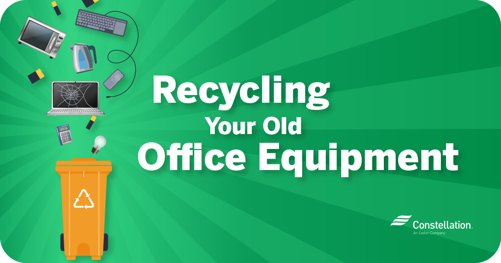 Recycling your old office equipment