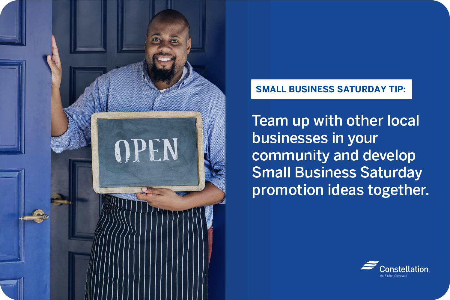 Small business saturday tip promotion idea